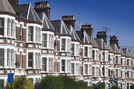 rij huizen: Typisch Engels Houses in Londen.