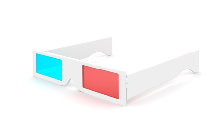 3-D Glasses isolated on white