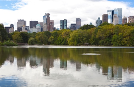 Midtown buildings from Central Park  photo