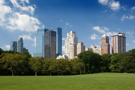 Midtown buildings from Central Park Editorial