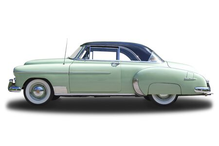 chevrolet: Chevrolet Deluxe 1950 isolated on white