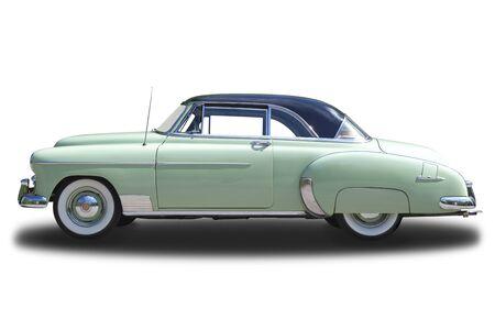 chevrolet: Chevrolet Deluxe 1950 isolated on white