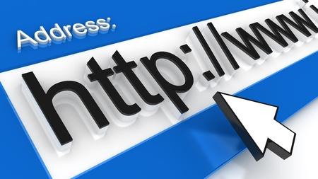 internet address line.