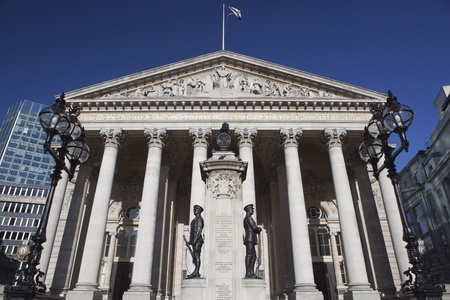 The facade of the London Stock Exchange.