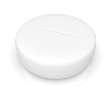 Tablet isolated on white Stock Photo