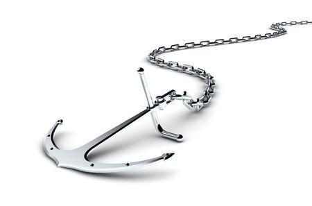 Anker mit Kette Standard-Bild - 11902493