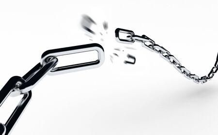 broken link: Rottura della catena Archivio Fotografico