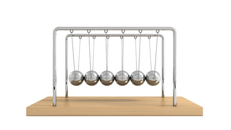oscillation: Newtons Cradle Stock Photo