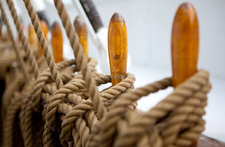 rigging: ship rigging close up.