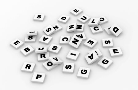 Letters, scrabble