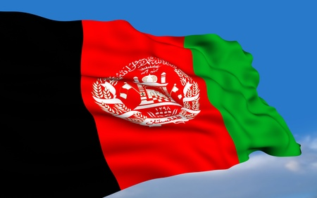 Afghan Flag Stock Photo - 12034380