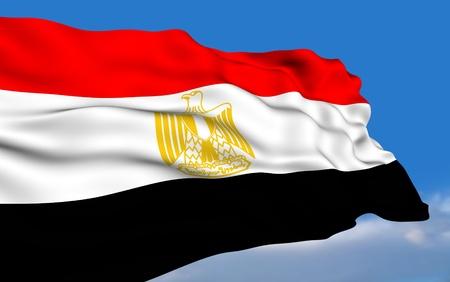 egypt flag: Egyptian Flag Stock Photo