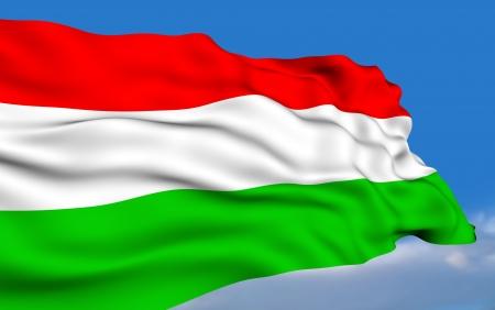 Hungarian Flag Stock Photo