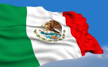 bandera de mexico: Bandera mexicana Foto de archivo