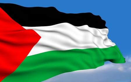 Palestinian Flag Standard-Bild