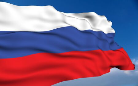 russian flag: Russian flag Stock Photo