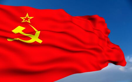 Soviet Union flag. photo