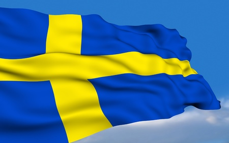 the swedish flag: Swedish Flag Stock Photo