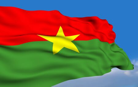 burkina faso: Burkinabe flag  Stock Photo