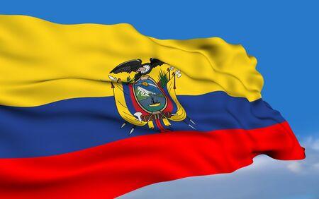 ecuadorian: Ecuadorian flag Stock Photo
