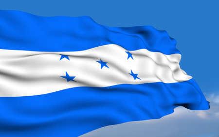 Honduran flag waving on wind photo