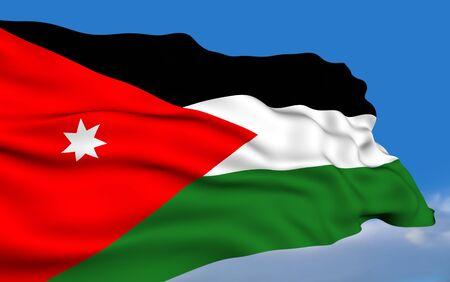 Jordanian flag Standard-Bild