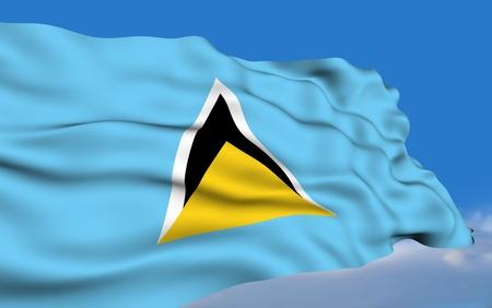 saint lucia: Saint Lucian flag