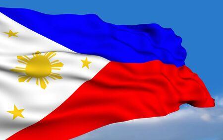 philippines flag: Philippines Flag Stock Photo