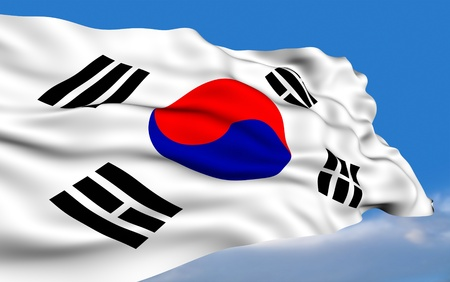 South Korean Flag photo