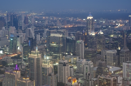 View Of The Bangkok Skyline at Night  photo