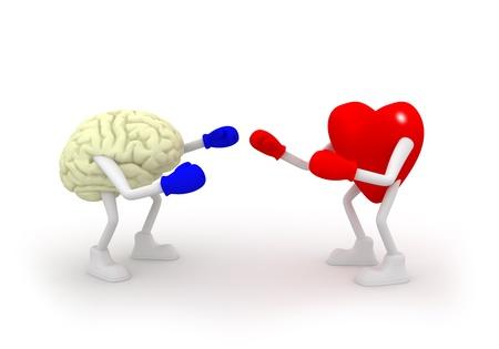 mente: Coraz�n vs Lucha Mind Foto de archivo