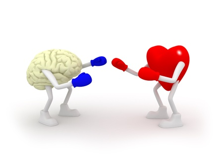 brain and thinking: Heart vs Mind  Fighting