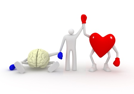 Heart win fight with mind