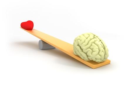 Mind vs heart Stock Photo