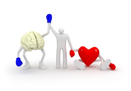 Mind win fight with heart