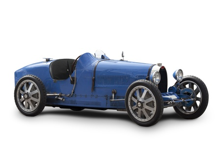 Bugatti type 35 isolated on white