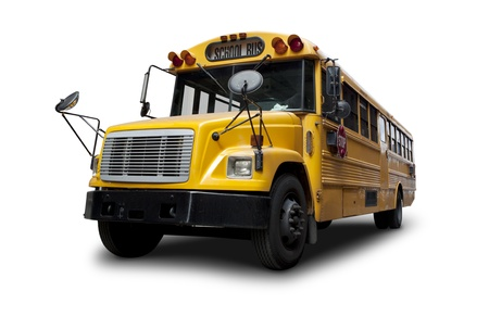 School bus Isolated On White Stock Photo