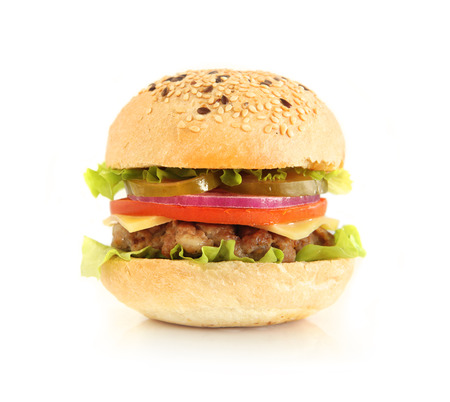 Burger isolated on white.