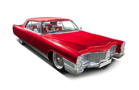 Red car coupe. 스톡 콘텐츠