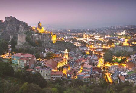Widok na stare Tbilisi, Gruzja.
