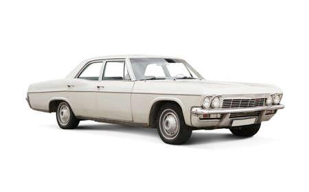 Classic car isolated on white. Standard-Bild