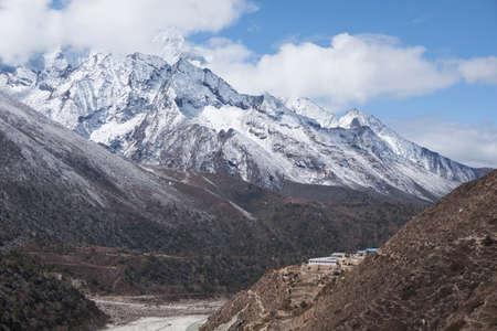 Sagarmatha National Park, Trek to Everest Base Camp. Nepal, Himalaya Mountains. Standard-Bild