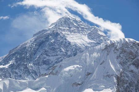 Mount Everest. World Highest Mountain 8848 meters. Himalaya Mountain Range. Nepal. Standard-Bild