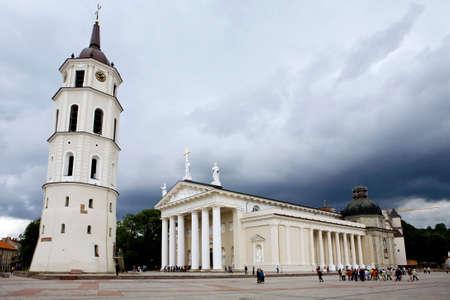 vilnius: Cathedral Square in Vilnius, Lithuania
