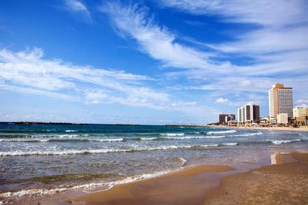 View of a Tel-Aviv beach, Israel photo