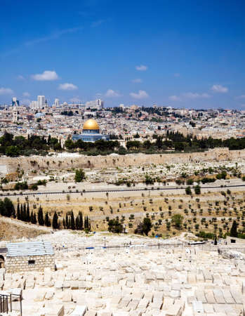 prayer tower: View of Jerusalem from Olive Mountain, Israel