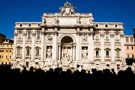 Most famous Trevi Fountain in Rome, Italy photo