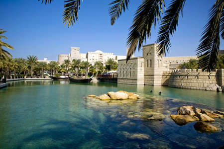 dubai mall: Beautiful shopping mall Souk Madinat Jumeirah in Dubai, UAE Stock Photo