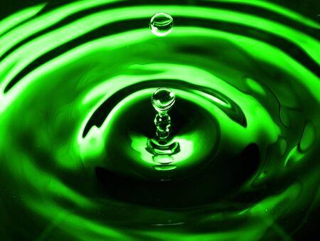 Green Falling water drop