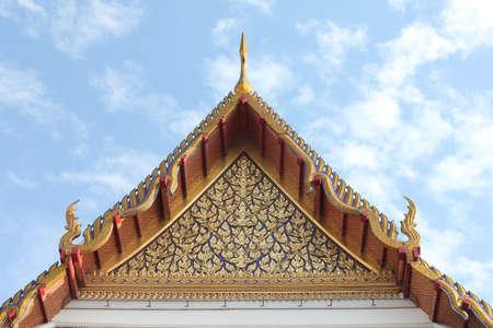 Thai gold Gable Stock Photo